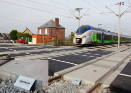 Corkelast LCS Level Crossing System Paris-Lille (Breteuil, France)