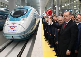 Official inauguration of Ankara Station by Recep Tayyip Erdoğan, President of Turkey and Benaldi Yildirim, Prime Minister (and ex-Transport Minister)